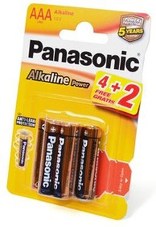 Батарейка Panasonic Alkaline Power LR03APB/6BP 4+2F LR03 4+2шт BL6